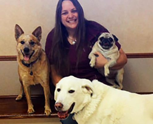 Minneapolis Veterinarian JENNA BULEY and her dogs
